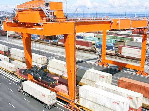rail mounted gantry crane(rmg crane) used in ports sales
